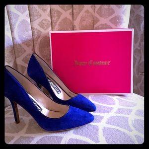 Juicy Couture Blue Suede Heels